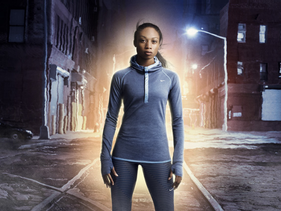 Nike Dri-FIT Wool Women's Running Hoodie Thunder Blue-Reflective Silver