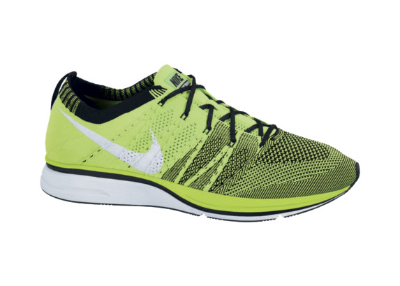 Nike Flyknit Electric Green Black-White