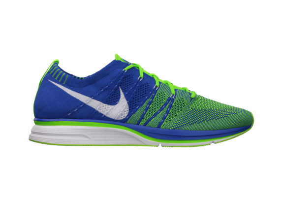 Nike Flyknit Varsity Royal Electric Green-White